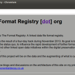 the-fr.org: The Format Registry
