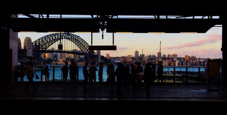 Skyline from a train station in Sydney, Australia