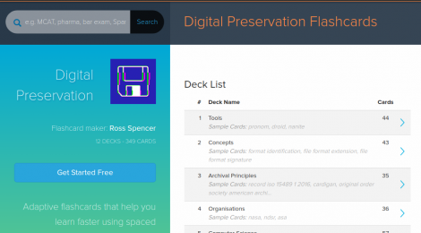 Brainscape Flashcards: For Digital Preservation